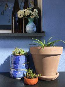 Balkon blau